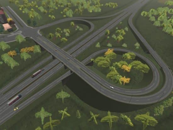 environnement synthétique camion